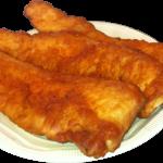 Wortelstamp met vis