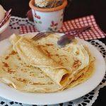 Pannenkoeken met kaas en shitake
